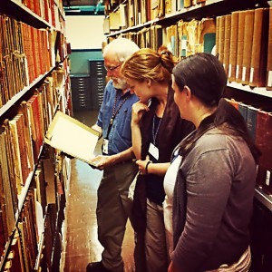 In the stacks of the USDA National Agricultural Library with Bill Thomas and Katie Winkleblack.